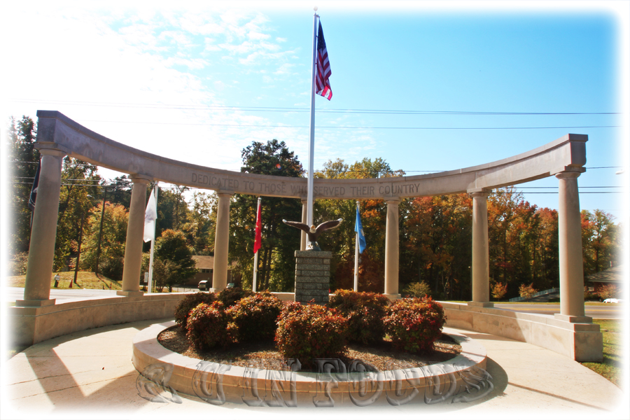 Veterans Memorial display